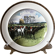 Vintage Copeland Lionel Edwards Off To Draw No. 5 Fox Hounds Equestrian Dinner Plate