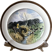 Vintage Copeland Lionel Edwards Going to a Halloa No. 3 Fox Hounds Equestrian Dinner Plate