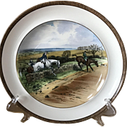 Vintage Copeland Lionel Edwards Full Cry No. 1 Fox Hounds Equestrian Dinner Plate