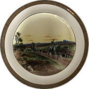 Vintage Copeland Lionel Edwards Homeward No. 7 Fox Hounds Equestrian Side Plate