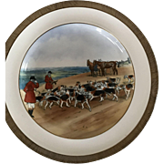 Vintage Copeland Lionel Edwards The Kill No. 11 Fox Hounds Equestrian Side Plate