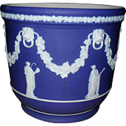 Early Wedgwood Jasperware Dip Blue Cobalt Jardiniere Planter