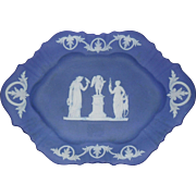 Early Wedgwood Jasperware Blue Dip Tray Platter Diana The Huntress