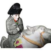 Vintage AW Fr Kister Scheibe Alsbach Napoleon on Horseback Figurine