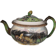 Vintage Copeland Lionel Edwards No. 3 & 5 Fox Hunt Equestrian Teapot