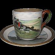 Vintage Copeland Lionel Edwards No. 5 & 8 Fox Hounds Equestrian Demitasse Cup & Saucer