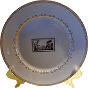 Richard Ginori Italy Florence Fiesole White and Gold Dessert Plate 8 3/4""