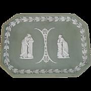 Rare Antique Wedgwood Green Jasper ware Jasperware Platter Tray