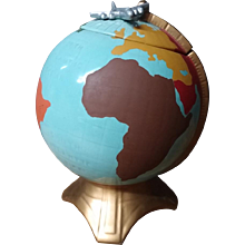 Rare Original Vintage McCoy World Globe Cookie Jar