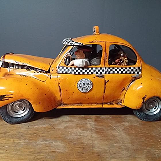 Guillermo Forchino 'Le Taxi' Comic Modern Art Sculpture #01697