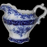 Antique Stanley Pottery England Flow Blue Touraine Pattern Creamer 1899