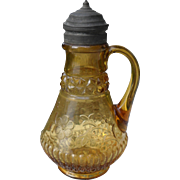 EAPG Amber Syrup Pitcher