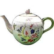 Vintage Herend Fruit and Flowers Teapot Pink Rose 1915-30