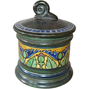 Gouda Holland Damascus Tobacco Humidor Jar Shell Finial