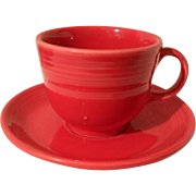 HLC USA Fiesta Fiestaware Scarlet Red Cup and Saucer