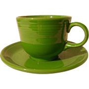 HLC USA Fiesta Fiestaware Shamrock Green Cup and Saucer
