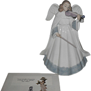 Lladro 6126 Angelic Violinist Figurine Tree Topper Limited Edition Retired w/ Box