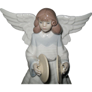 Lladro 5876 Angelic Cymbalist Figurine Tree Topper Limited Edition Retired w/ Box