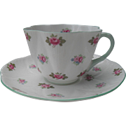 Shelley England Dainty Rosebud Teacup and Saucer 13426