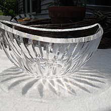 Brilliant Unique Waterford Crystal Elliptical Serving Bowl