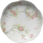 Haviland Limoges The Princess Butter Pat Pink Roses/Blue Ribbons