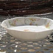 Haviland Limoges The Princess Fruit Bowl Pink Roses/Blue Ribbons