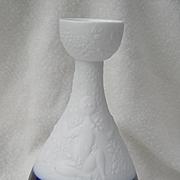 Rare Rosenthal Bjorn Wiinblad Magic Flute Cobalt Papageno Candlestick