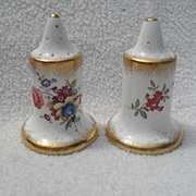 Gorgeous Hammersley Lady Patricia Chintz Gold/Gilt Salt and Pepper Shakers