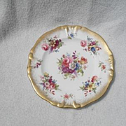 """Gorgeous Hammersley Lady Patricia Chintz Gold/Gilt 6"""" Plate Signed F.Howard"""