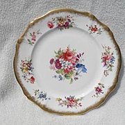 """Gorgeous Hammersley Lady Patricia Chintz Gold/Gilt 8"""" Plate Signed F.Howard"""