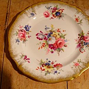 "Gorgeous Hammersley Lady Patricia Chintz Gold/Gilt 7"" Plates Signed F.Howard"