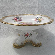 Gorgeous Hammersley Lady Patricia Gold/Gilt Round Comport Signed F.Howard
