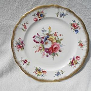"""Gorgeous Hammersley Lady Patricia Gold/Gilt 9 1/4"""" Dinner Plate Signed F.Howard"""