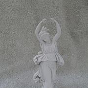 Gorgeous Antique Volkstedt Germany Bisque Castanet Dancer Figurine Statue