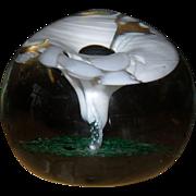 Vintage Gullaskruf Sweden Glass Paperweight