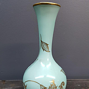 Vintage Schumann Arzberg Turquoise and Gold Vase