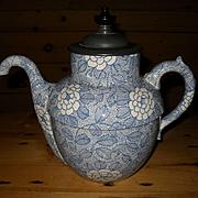 Antique Doulton Burslem Self Pouring Chintz Teapot 1879