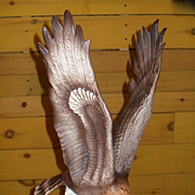 Large Royal Dux Swooping Golden Eagle Figurine 24454