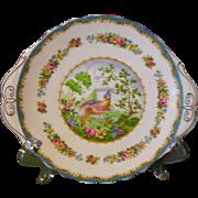 Royal Albert Chelsea Bird Blue Cake Plate