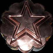 Antique Victorian English Copper Jelly Mold Star