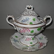 Antique Rockingham Porcelain Sauce Tureen 1840