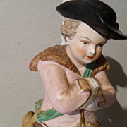 Antique Derby Stevenson Skater Rabbit Spill Vase Figurine