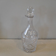 Early McKee Horn of Plenty/Peacock Tail Decanter 1850