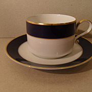 H & Co. Echt Kobalt Heinrich Rich Blue Teacup and Saucer