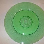 Art Nouveau Reijmyre Sweden Green Roaring Lion Plate