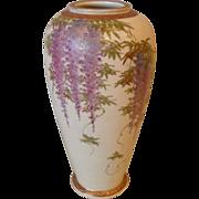 Vintage Japanese Satsuma Koshida Wisteria Vase