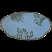 T&V Limoges France Gold Sea Fern Serving Plate
