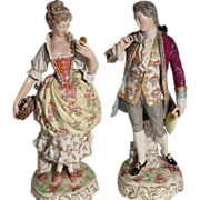 Antique French Old Paris Vincent Dubois Pair Figurines