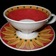 Modern Rosenthal O Sole Mio #9 Espresso Cup Saucer