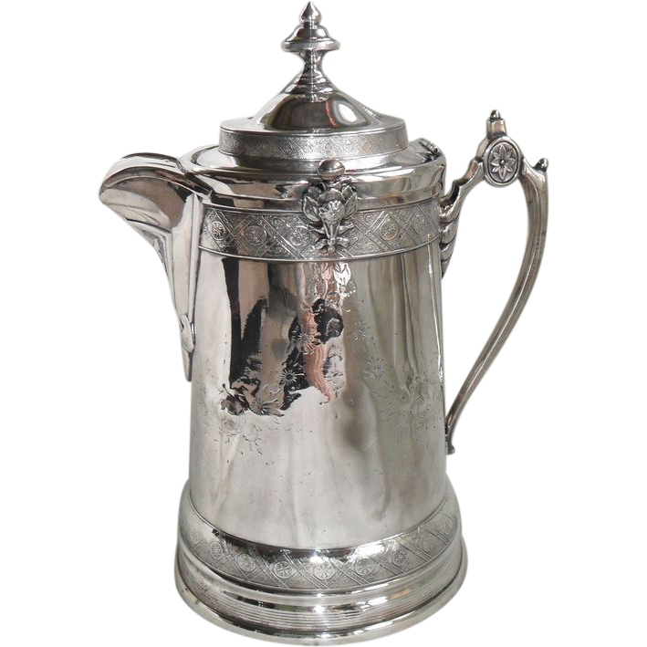 Reed And Barton Victoriana Cold Beverage Silver Pitcher
